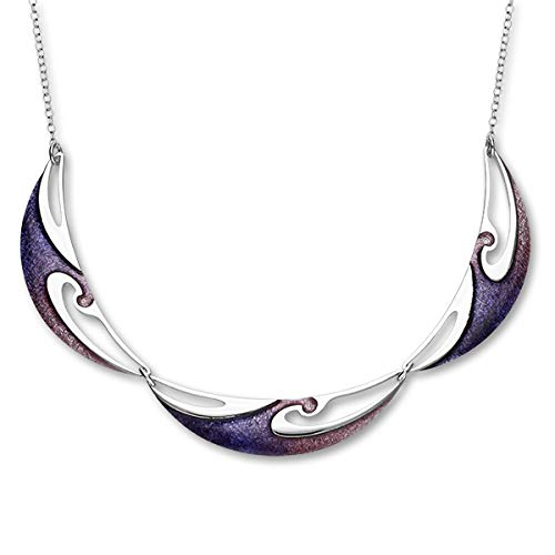 ORTAK Bali Sterling Silver Necklet with Glass Enamel - Sirocco