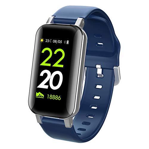 T89 Smart Watch Bluetooth5.0 Auricular Recordatorio Teléfono Impermeable Tarifa Cardíaca Monitor De Presión Arterial Deportes Smartwatch Hombres Mujeres iOS Android,C
