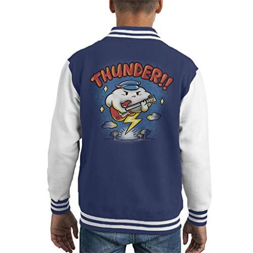 Cloud City 7 Thunder Raincloud Electric Guitar Kid's Varsity Jacket