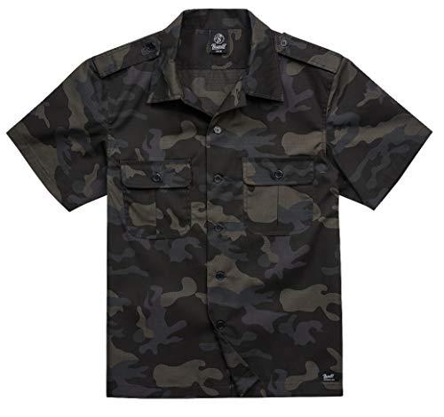Brandit US Shirt Ripstop 1/2 Arm, Darkcamo, Größe 3XL