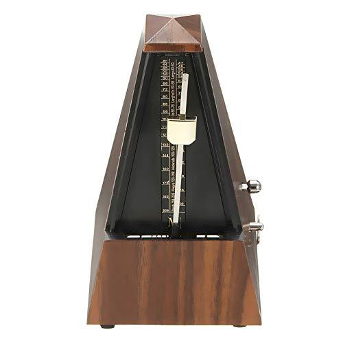 AIYASHIWEI Musik Metronom 1 Stück Mechanische Metronome Teak Holz Vintage-Stil aus Holz Farbe Musik Timer for Gitarren-Klavier-Violin-Zither Musikinstrument (Color : Bronzed)