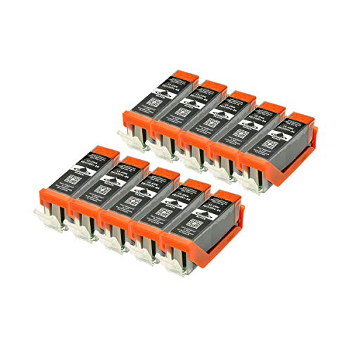 10 Druckerpatronen kompatibel für Canon PGI-550BK XL IP-7250 8750 IX-6850 MG-5450 5550 6350 6450 7150 MX-725 925
