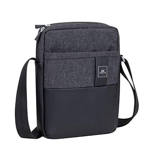 RivaCase 8811 Nero Melange Crossbody Bag for Tablets 11