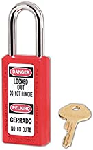 Master Lock 411RED Keyed Different Safety Lock Padlock, Red