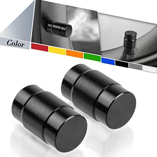 Universal MotoTapones de Válvula para Neumáticos para V-Strom 250 650 1000 DL250 DL650 DL1000 CRF1000L Africa Twin XADV X-ADV Street Triple 675 765 1050-Negro