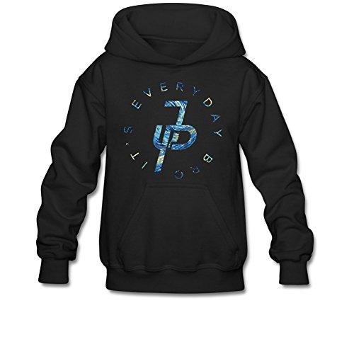 Aliensee Youth Jake Paul It's Every Day Van Gogh Hoodie Sweatshirt Suitable for 10-15yr old S Black
