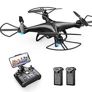 Holy Stone HS110D FPV RC Drone with 1080P HD Camera Live Video 120? Wide-Angle WiFi Quadcopter with Altitude Hold Headless Mode 3D Flips RTF with Modular Battery, Color Black by Holy Stone