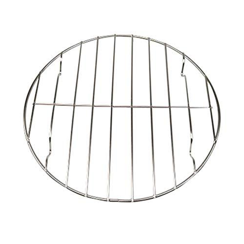 WYJBD BBQ Grill Rack-Non-Stick Barbecue Grids Metalldraht Stikkenwagen Kochen Gestell for Fisch Gemüse Steak Shrimp Fleisch Lebensmittel 25cm (Color : Silver, Size : 25cm)