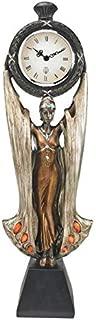 Design Toscano PD33335 Fortune's Muse Sculptural Clock, bronze