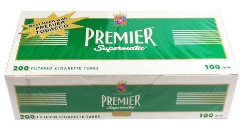 (5) Five Boxes of Premier Menthol - 100mm Cigarette Tubes