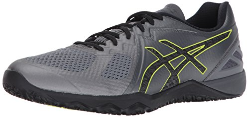 ASICS Men's Conviction X Cross Trainer, Carbon/Black/Energy Green, 10 Medium US