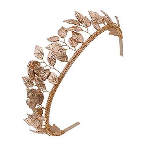 PRETYZOOM Diadema de La Hoja de La Diosa Del Griego Diadema de La Novia La de Las Hojas de La Hoja de Oro La de La Rama de La Hoja