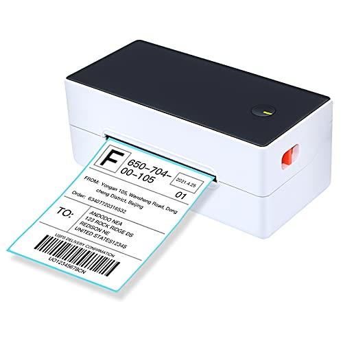 Aibecy Impresora térmica directa de etiquetas Impresora de etiquetas de envío de escritorio 4x6 USB + BT Etiqueta adhesiva de alta velocidad 40-120mm Ancho de papel