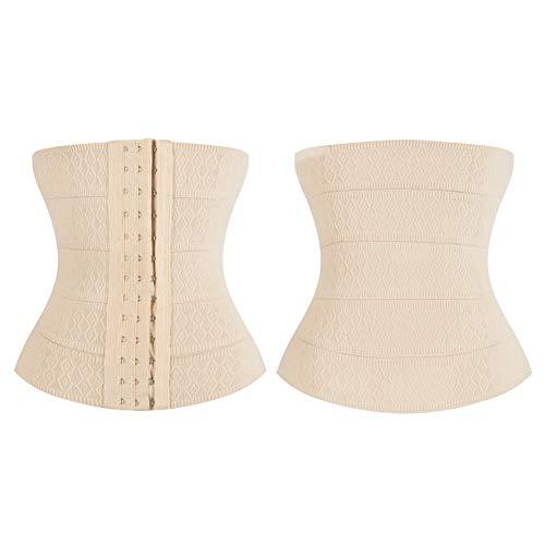 FRIDG Waist Trainer, Women Body Shaping Waist Trimmer Training Belt Elastic Strap Cincher Shapewear Skin Color M