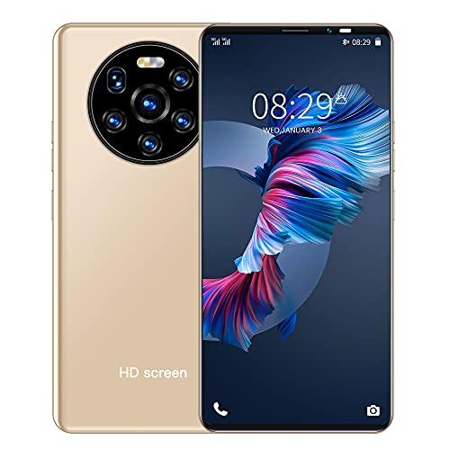 LINGOSHUN TeléFono MóVil Mate40pro,Pantalla de Gota de Agua HD,512 MB de RAM Y 4 GB de Almacenamiento en ROM,Batería de 2000 MAh/dorado / 5.34 Inches