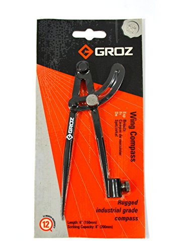 GROZ 6-inch Wing Compass | Industrial Grade (01550)