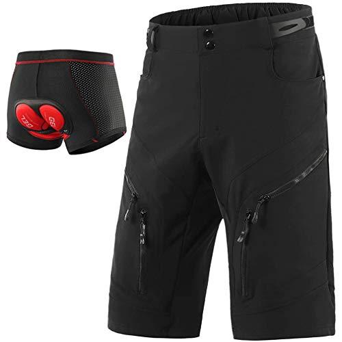 Beylore Bicicletas Mountain Bike Pantalones Cortos Hombre, Culotes Ciclismo MTB Pantalon Descenso,...