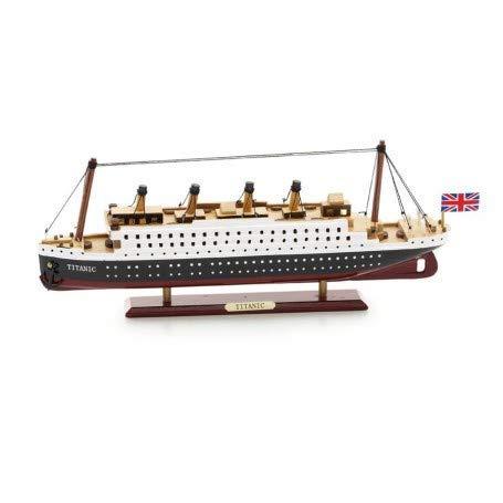 NAUTICALMANIA Maqueta Artesanal Titanic 29x12x4cm (Montada)