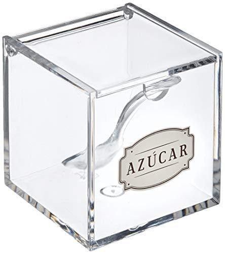 DCASA Azucarero Acrilico con Cuchara HOME unisex adulto, Sintetico