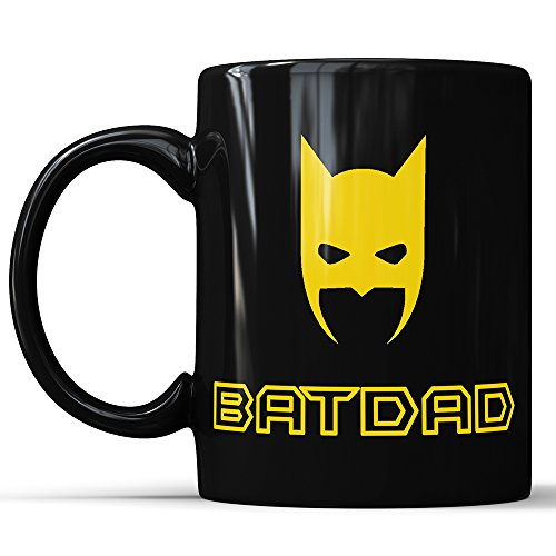 Fathers Day Mug, Dad Funny Mug, Black Coffee Mug Bat Dad Mug, Batdad Mug, Fathers Day Gift, Gift Ideas For Dad, Superhero Dad Mug, Superhero Daddy, Dad Cup (11 oz)