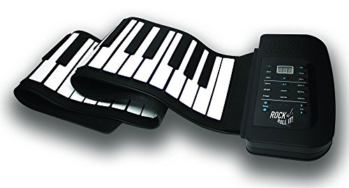 MUKIKIM Rock and Roll It - Studio Piano. Flexible, Completely Portable, 61 Standard Size Keys, Rechargeable Battery + USB Powered, and Midi Compatible