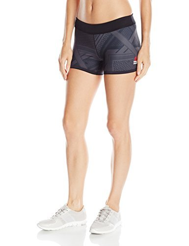 Reebok Women's Crossfit Chase Shemagh Bootie Shorts, Medium, Black