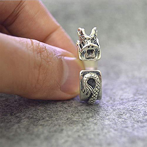 Keai 925 Reine Silber chinesische Tap Styling Ring Herren Vintage National Wind Open Ring