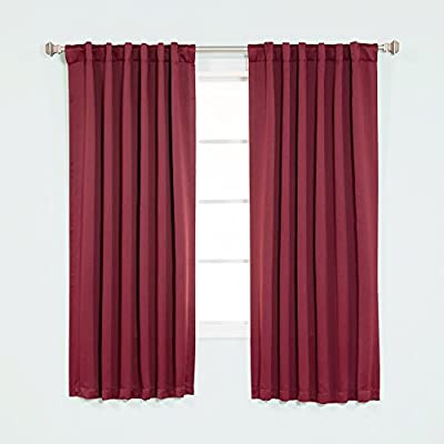 Best Home Fashion Thermal Insulated Blackout Curtains - Back Tab/ Rod Pocket - (Set of 2 Panels)