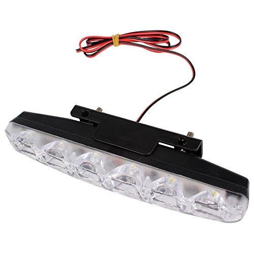 iTimo Lot de 2 feux de circulation diurnes à 6 LED pour voiture