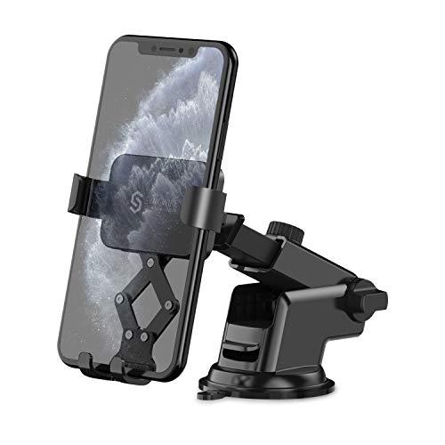 Syncwire Handyhalterung Auto, 360 Grad Drehung Sichtwinkel, Automatische Verriegelung, KFZ Handyhalter Auto Mit Saugnapf für 4,7-7,2 Zoll Smartphone für iPhone Samsung Huawei Oneplus Moto Xiaomi mehr