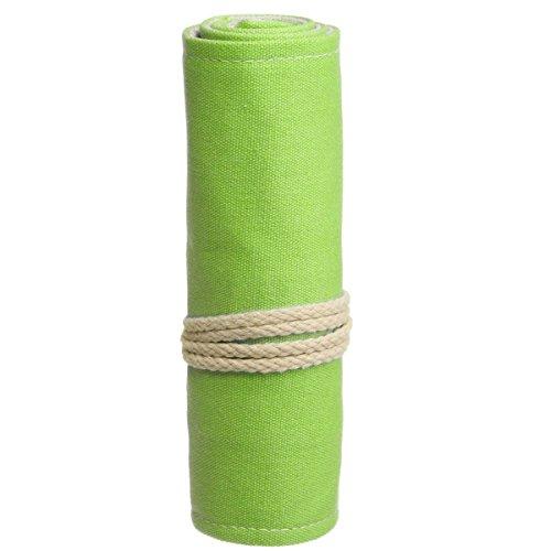 KING DO WAY 48 Buco Borsa Trucco Sacchetto Pennello Arte Sacchetto Borsa Matita Astuccio Portapenne Verde 60cmX20cm