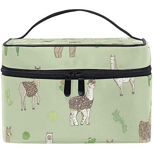 Lama Animal Makeup Case Cosmetic Bag, Capacity and Adjustable Makeup Bags Waterproof Toiletry Bag-VZI4-65X