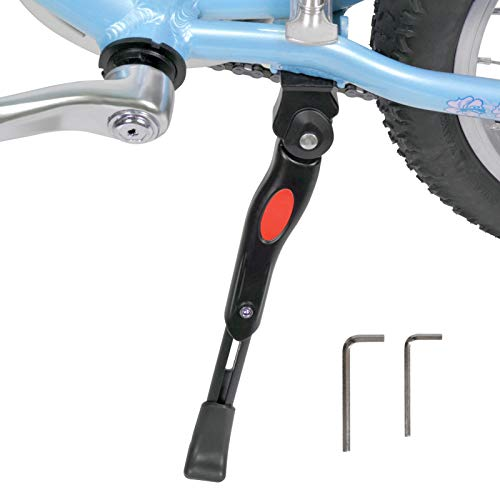 Bike Kickstand for 16 18 20 Inch Kids Bike Center Mount Adjustable Aluminum Alloy Bicycle Kickstand Adult Kick Stands for 16-20 Inch Mountain Bike/Road Bicycles