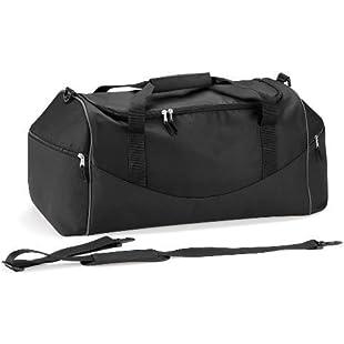 Quadra - sac de sport 55 L - QS70 - TEAMWEAR HOLDALL - coloris noir / gris by Quadra