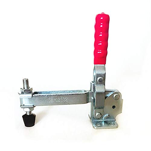 MINGZE Toggle Clamp GH-12132, a sgancio rapido verticale toggle Morsetto 227 kg / 500Lbs Capacità di presa Maniglia a sgancio rapido Tipo verticale Morsetti a Ginocchiera Rapido Fisso