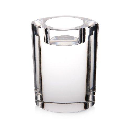 CRISTALICA Teelichthalter Kerzenhalter Kerzenständer Candleholder Starlight 10 cm Oval Transparent Kristall