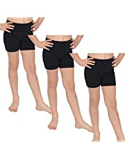 Stretch is Comfort - Pantalones cortos de ciclismo de algodón para niña (3 unidades)