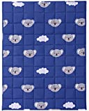 Joyching Weighted Blanket for Toddler 2lbs, 36 x 48 inches 600TC Egyptian Cotton Heavy Blanket with Glass Beads Kids Weighted Comforter Blue Koala
