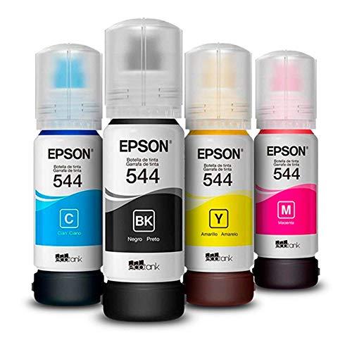 Kit 4 cores Refil Tinta Epson T544 Original L3110 L3150 - Lacrado