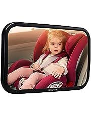 【Nowa wersja】 Lustro na tylne siedzenie dla niemowląt, akacja dla niemowląt, lusterko wsteczne do fotelika dziecięcego i fotelika dla niemowląt, obracane o 360°, lusterko samochodowe w optymalnej wielkości