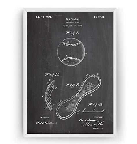 Baseball 1924 Patent Poster - Jahrgang Drucke Drucken Bild Kunst Geschenke Zum Männer Frau Entwurf Dekor Vintage Art Gifts For Men Women Blueprint Decor - Rahmen Nicht Enthalten