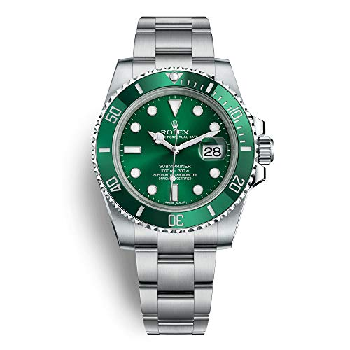 Rolex 40mm Submariner Model 116610LV Stainless Steel Green Anniversary Watch Oyster Band Ceramic Bezel & Green Face