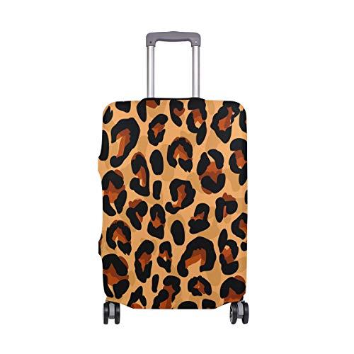 FANTAZIO Koffer Beschermende Cover Bagage Cover Kleurplaten Luipaard Patroon ALLEEN Cover