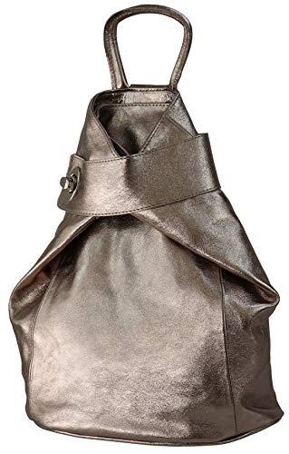 SH Leder Pamela G2517 Lightweight Genuine Leather Women's Backpack City Backpack Daypack Grained Cowhide Leather 29 x 34 cm Bronze