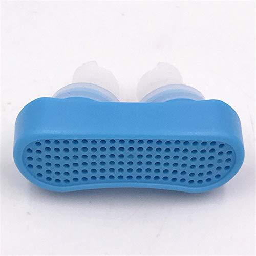 LHNX Entlüftungshilfe für Schnarchen, Belüftungsöffnungen und Nasenstöpsel, Dilatatoren, wenn Sie an Apnoe Leiden, Erleichterung der schwere Verstopfung blau