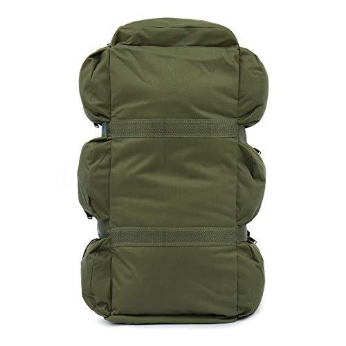Walker Valentin Zaino IBHT 90L Esterni Grande Duffle Bagagli Sacchetto Impermeabile d'escursione di Campeggio Borsa dello Zaino dello Zaino 1 (Color : Green)