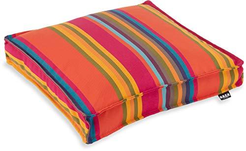 H.O.C.K. Yucatan Outdoor Sitzkissen/Stuhlkissen für den Garten, wasserabweisend/lichtecht (40x40x5cm, Orange)