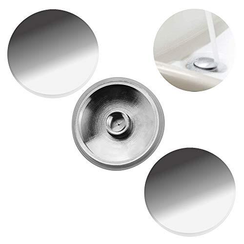 Xavsrde Tapón de desagüe para lavabo de baño, tapón de latón cromado pulido Pop Up Click Clack Conector para baño Eitelheit Sink