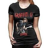 Keith Urban T Shirt Women's Cotton Fashion Sports Casual Round Neck Short Sleeve Tees XXL Black