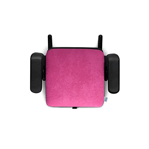 Clek Olli Backless Booster Car Seat with Rigid Latch, Flamingo